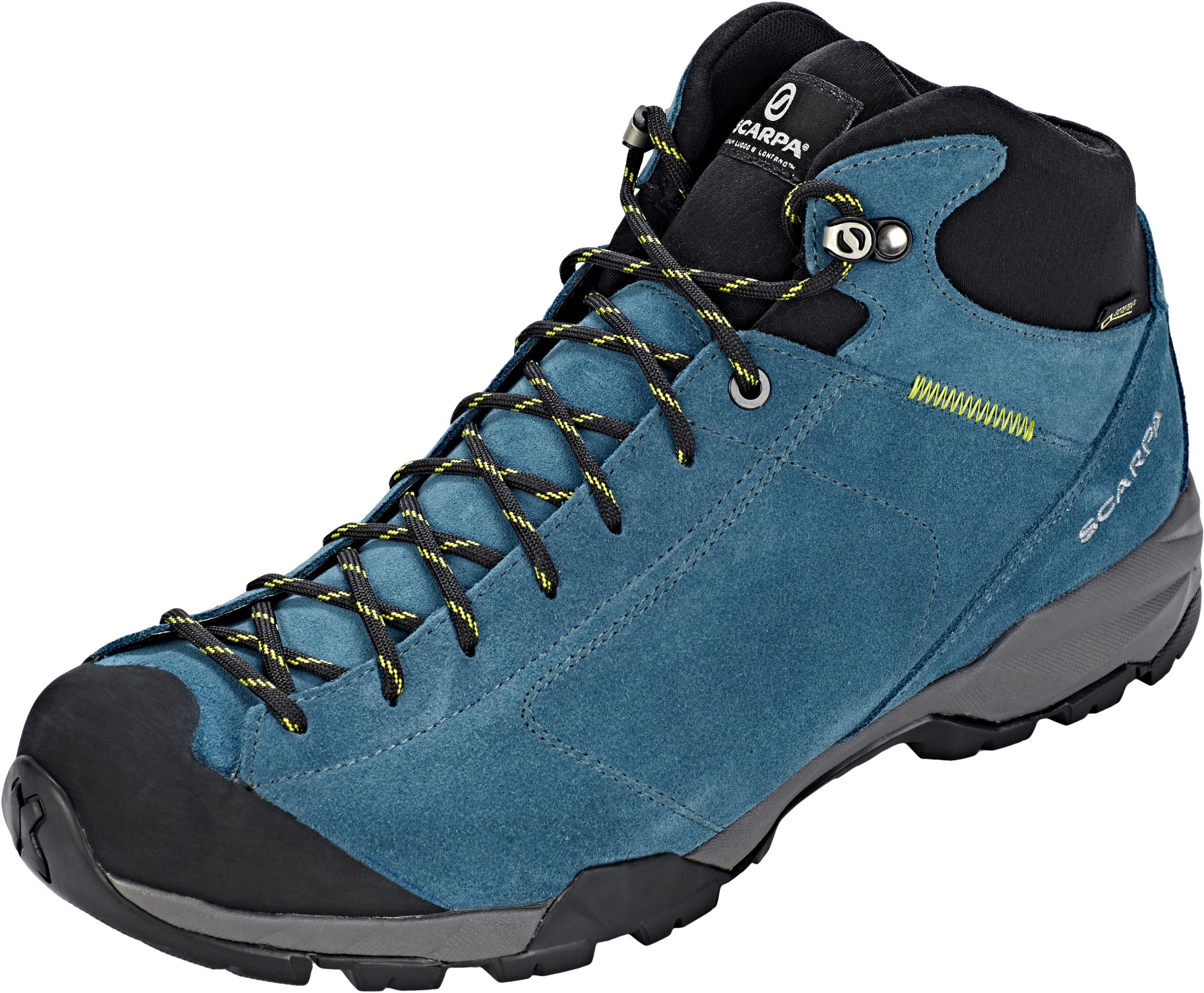 2468671eee4 Scarpa Mojito Hike GTX Shoes Men blue black at Addnature.co.uk